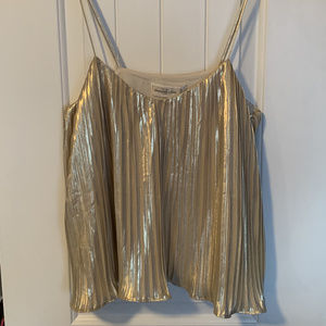 Gold Abercrombie & Fitch strappy camisole, size XS